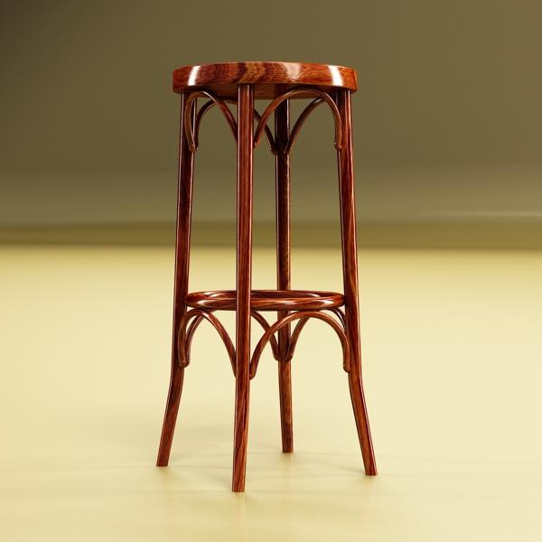photorealistic bar stool 3d model 3ds max fbx obj 148130