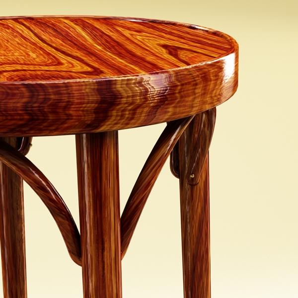 photorealistic bar stool 3d model 3ds max fbx obj 148131