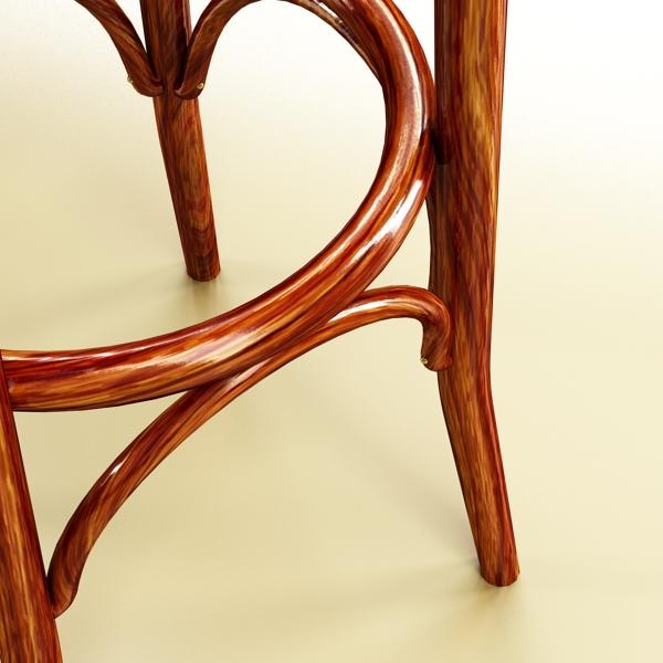 photorealistic bar stool 3d model 3ds max fbx obj 148132