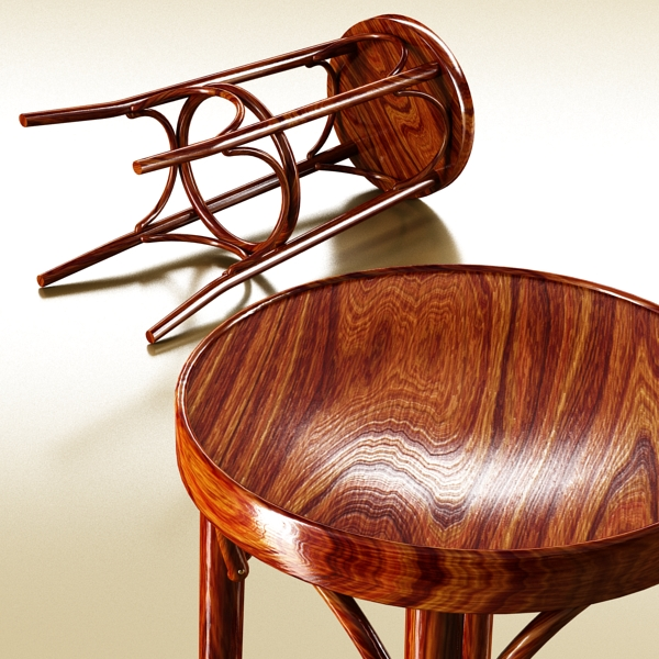 photorealistic bar stool 3d model 3ds max fbx obj 148133