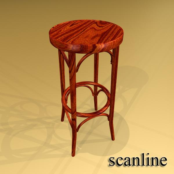 photorealistic bar stool 3d model 3ds max fbx obj 148134