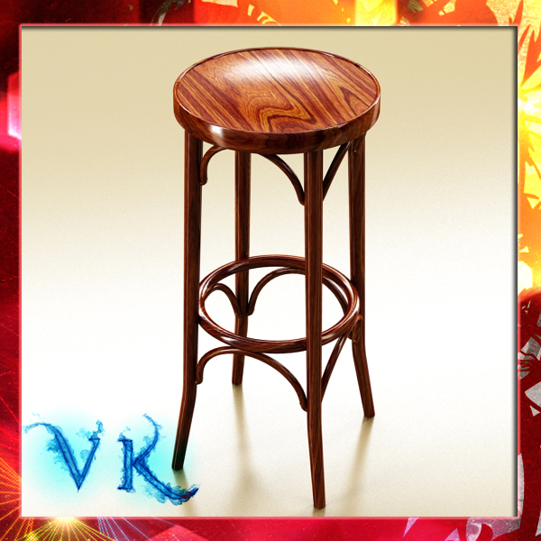 Photorealistic Bar Stool ( 289.04KB jpg by VKModels )