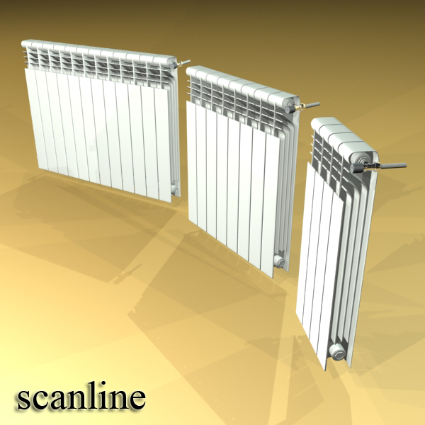 radiator 3 3d model 3ds max fbx obj 148435