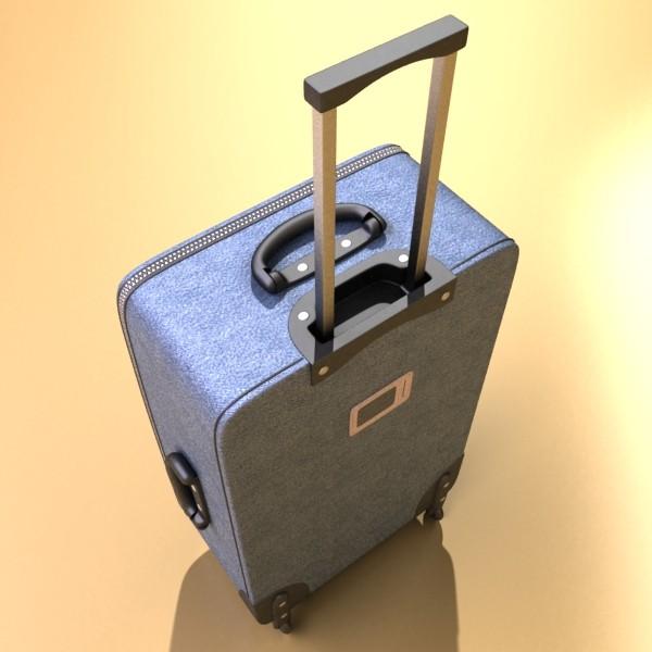 rolling suitcase 02 high detail 3d model 3ds max fbx obj 131588