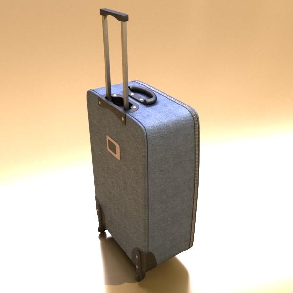 rolling suitcase 02 high detail 3d model 3ds max fbx obj 131589