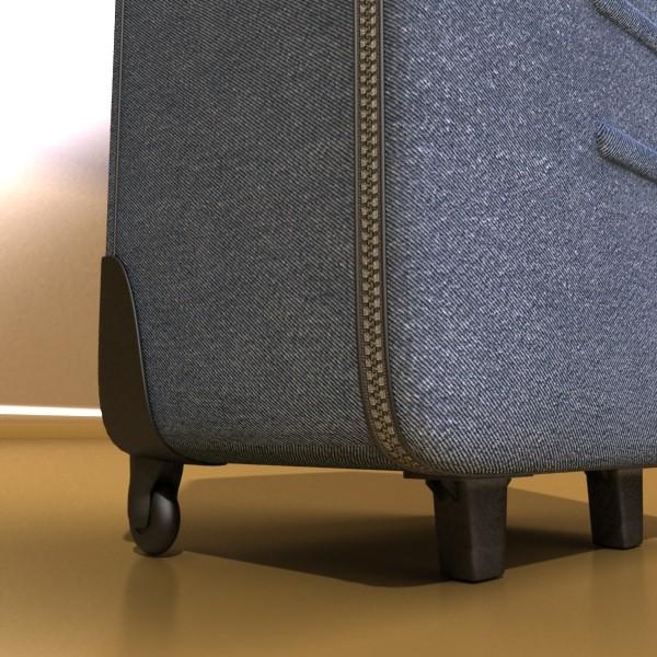 rolling suitcase 02 high detail 3d model 3ds max fbx obj 131593