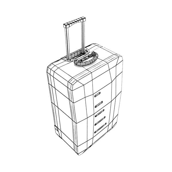rolling suitcase 02 high detail 3d model 3ds max fbx obj 131597