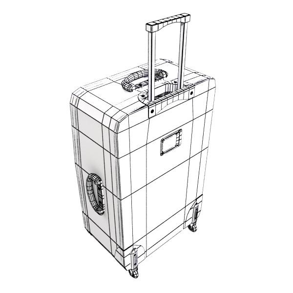 rolling suitcase 02 high detail 3d model 3ds max fbx obj 131598