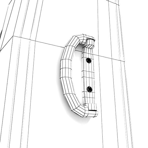 rolling suitcase 02 high detail 3d model 3ds max fbx obj 131601