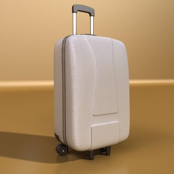 rolling suitcase 03 high detail 3d model 3ds max fbx texture obj 131611