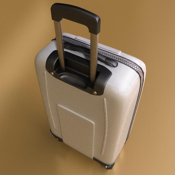 rolling suitcase 03 high detail 3d model 3ds max fbx texture obj 131612