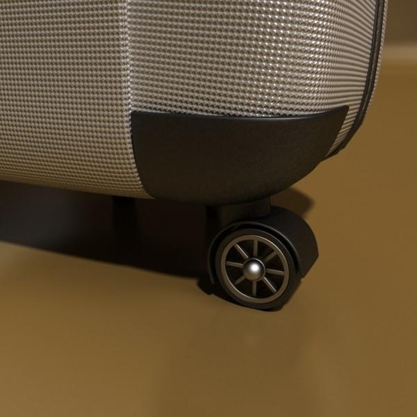 rolling suitcase 03 high detail 3d model 3ds max fbx texture obj 131613