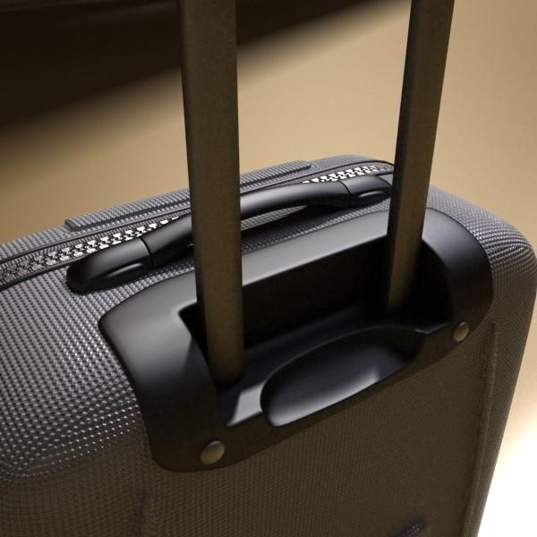 rolling suitcase 03 high detail 3d model 3ds max fbx texture obj 131616