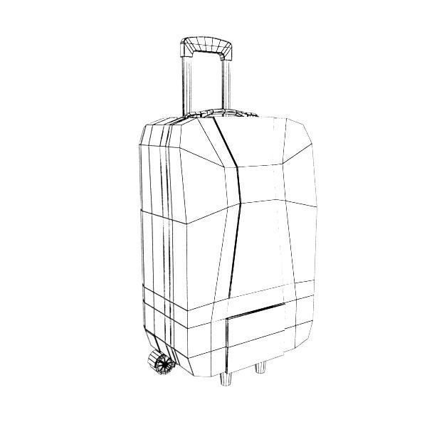 rolling suitcase 03 high detail 3d model 3ds max fbx texture obj 131618