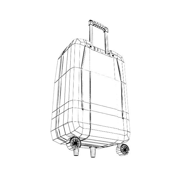 rolling suitcase 03 high detail 3d model 3ds max fbx texture obj 131619