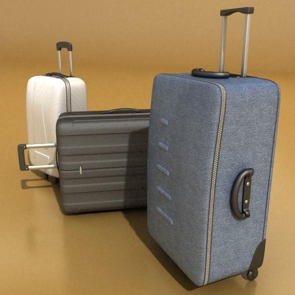 suitcase collection high detail 3d model 3ds max fbx obj 131624