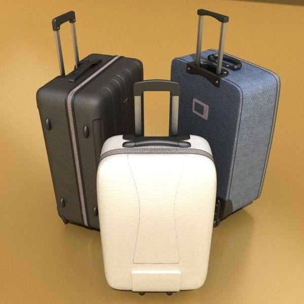 suitcase collection high detail 3d model 3ds max fbx obj 131625