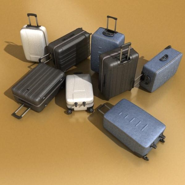 suitcase collection high detail 3d model 3ds max fbx obj 131626