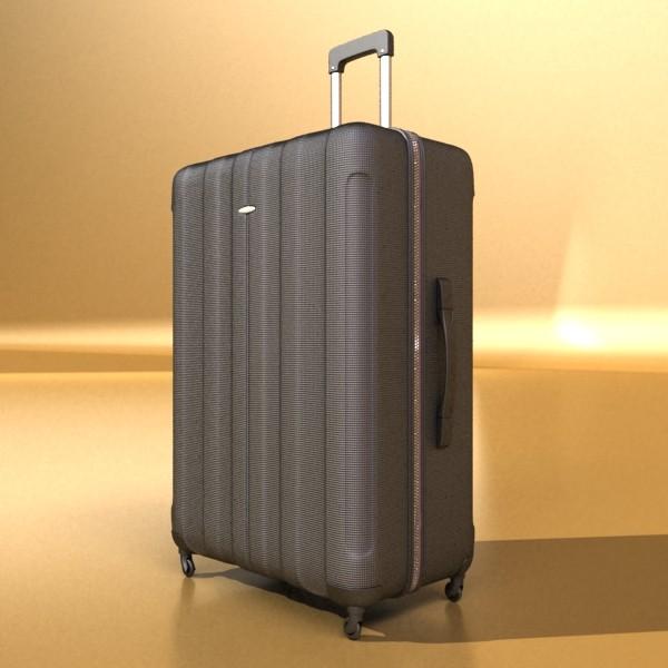suitcase collection high detail 3d model 3ds max fbx obj 131629