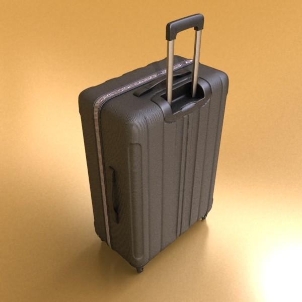 suitcase collection high detail 3d model 3ds max fbx obj 131630