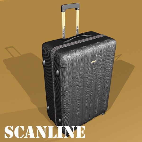 suitcase collection high detail 3d model 3ds max fbx obj 131637