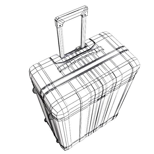 suitcase collection high detail 3d model 3ds max fbx obj 131638