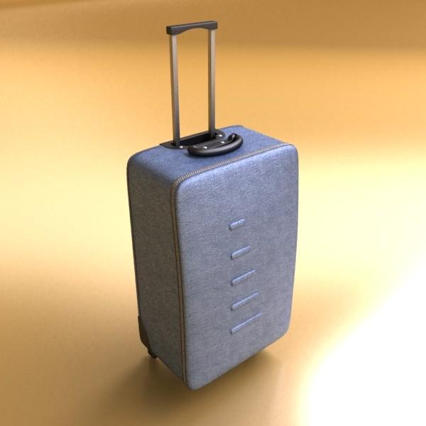 suitcase collection high detail 3d model 3ds max fbx obj 131642