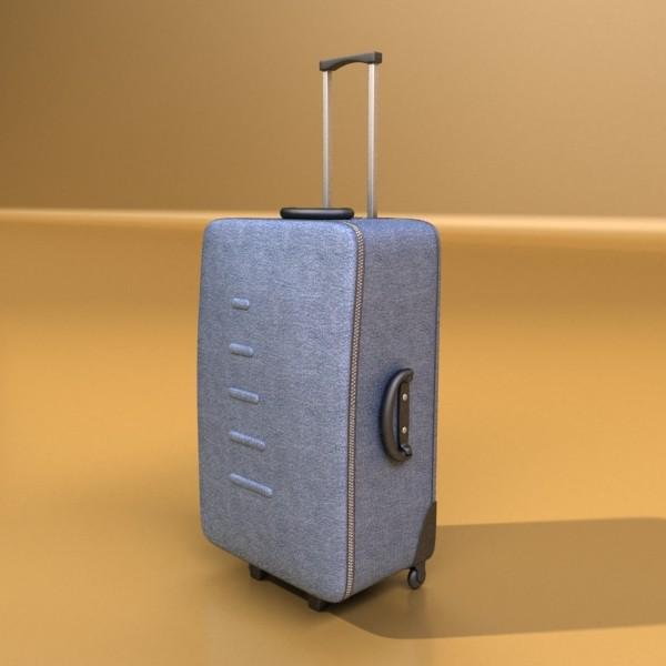 suitcase collection high detail 3d model 3ds max fbx obj 131643