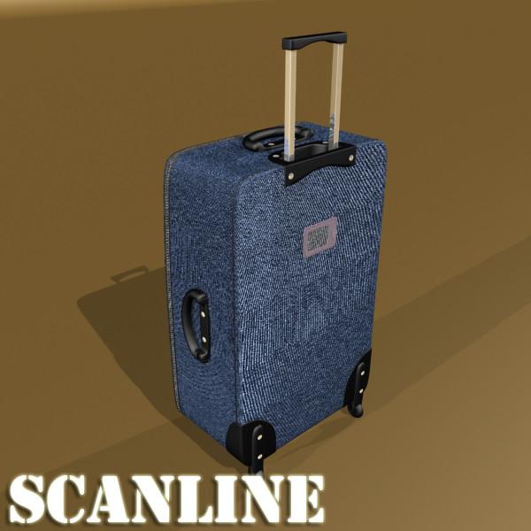 suitcase collection high detail 3d model 3ds max fbx obj 131652