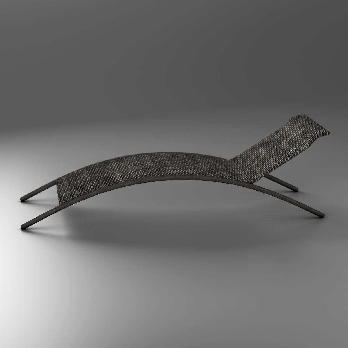 sunbed chair 3d model 3ds max fbx c4d ma mb obj 162642