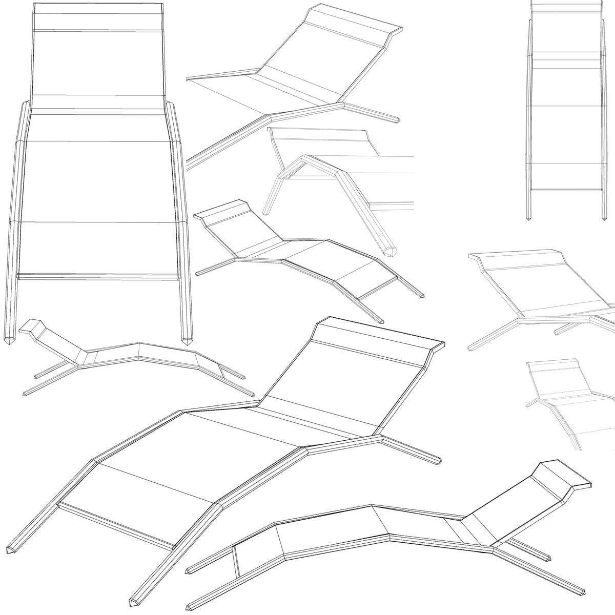sunbed chair 3d model 3ds max fbx c4d ma mb obj 162652