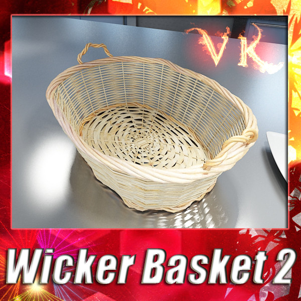 wicker basket – #2 3d model 3ds max fbx obj 132848