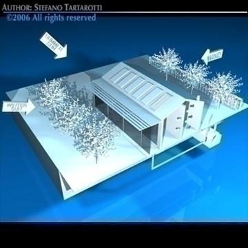 ecological house cutaway 3d model 3ds dxf c4d obj 82483