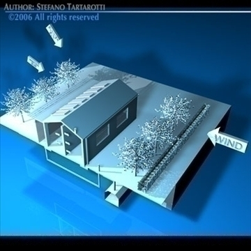 ecological house cutaway 3d model 3ds dxf c4d obj 82484