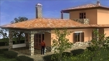 ģimenes māja 3dsmax 2011 3d modelis max avi jpeg jpg 107397