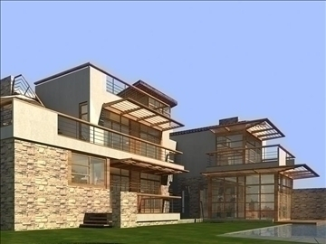 house 002 3d model 3ds max psd 91338