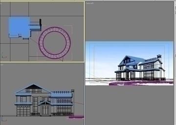 house 007 3d model 3ds psd 91349