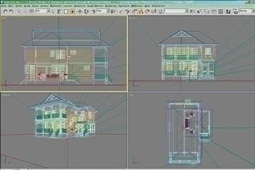 house 011 3d model 3ds max psd 91358