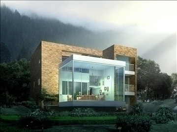 house 013 3d model 3ds max psd 91361