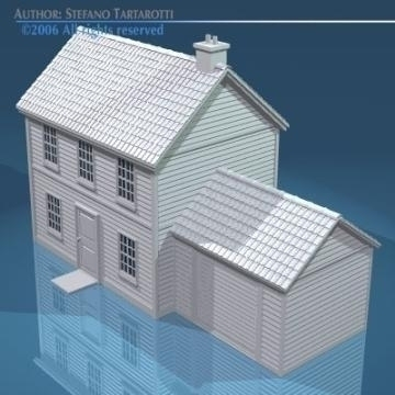 house with rooftiles 3d model 3ds dxf obj other 78488