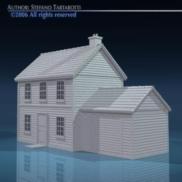 house with rooftiles 3d model 3ds dxf obj other 78490
