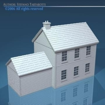 house with rooftiles 3d model 3ds dxf obj other 78491