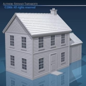 house with rooftiles 3d model 3ds dxf obj other 78492