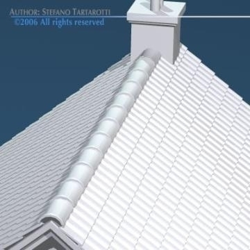 house with rooftiles 3d model 3ds dxf obj other 78493