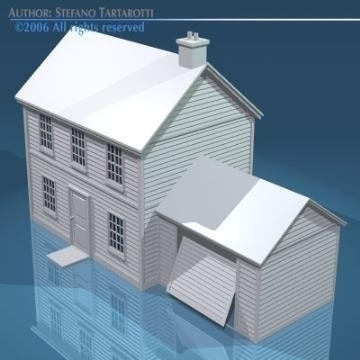 house with rooftiles 3d model 3ds dxf obj other 78496