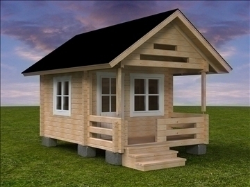 log cabin 3d model 3ds 3dm other 92031
