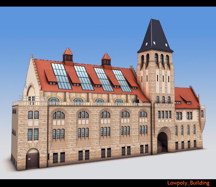 lowpoly city building 3d загвар 3ds max fbx obj 115572