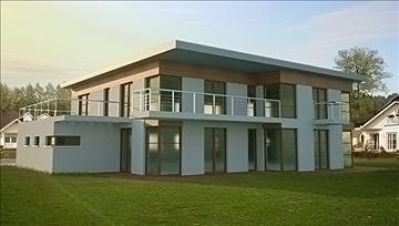 modern ház 002 3d modell 3ds max.