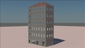 old styled building 1 3d model 3ds max c4d ma mb obj 106157
