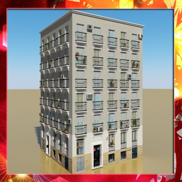 photorealistic low poly building 11 3d model 3ds max obj 149208